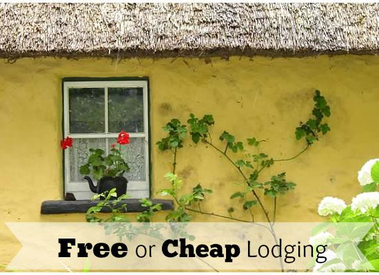 Five ideas for free or cheaping lodging